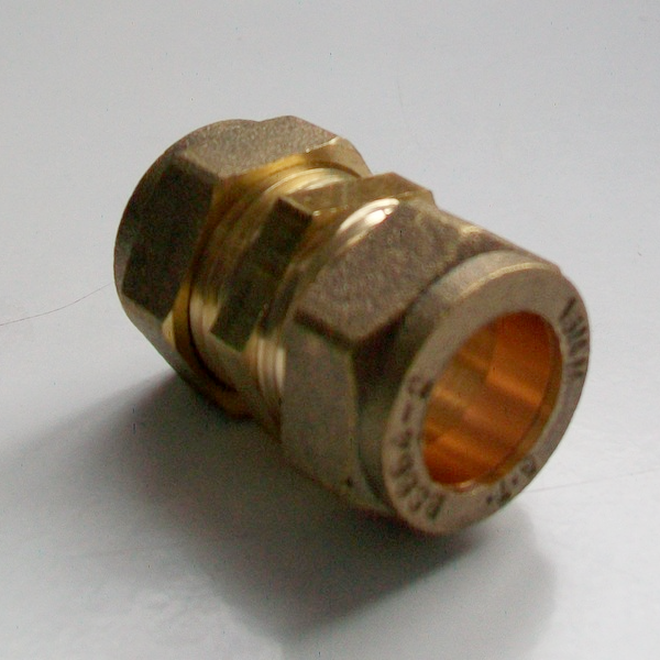 15mm Brass Compression Slip Coupling 24901500 Plumbers
