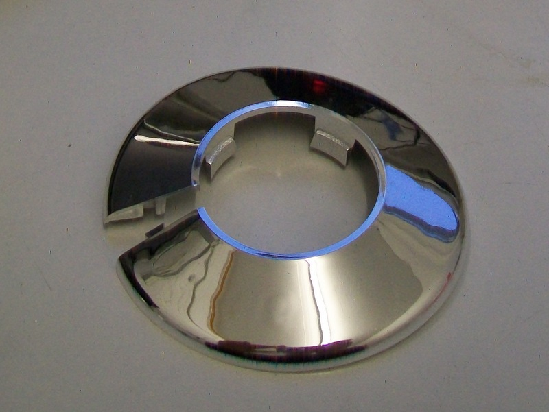 Chrome Plastic 35mm Wall Flange Pipe Collar 30000387