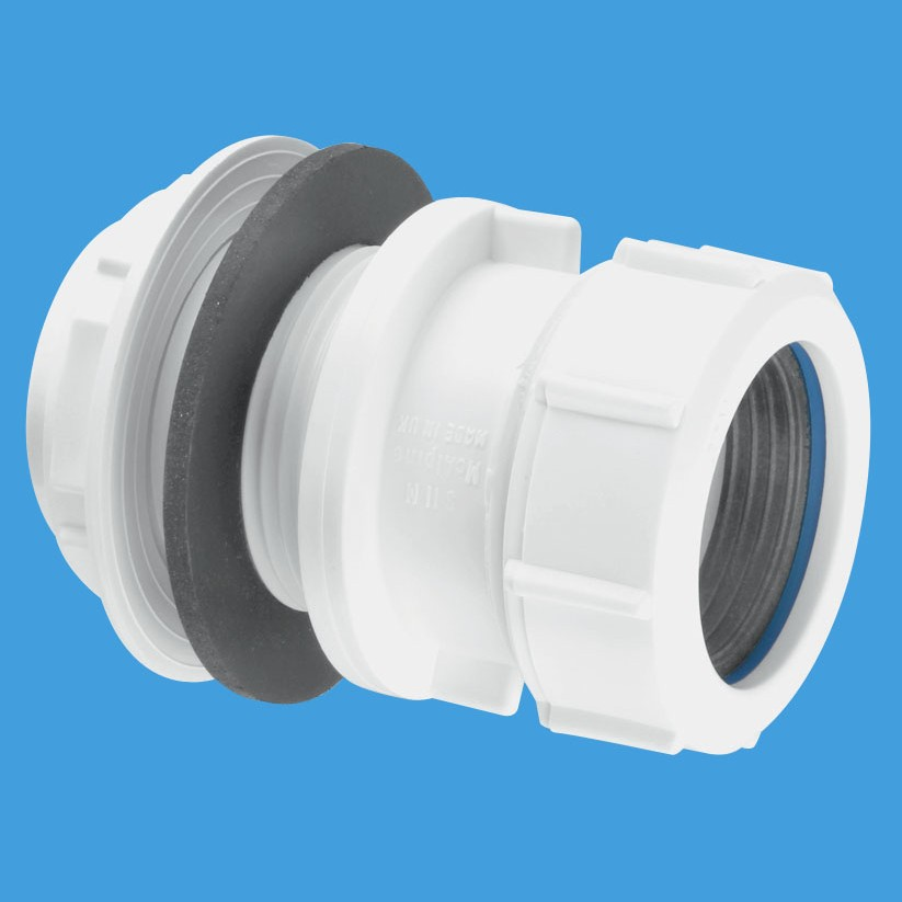 Mcalpine compression waste pipe tank connector t m