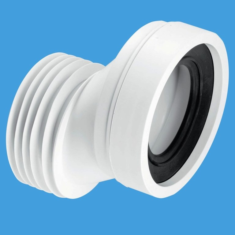 Mcalpine short mm offset toilet pan connector plumbers